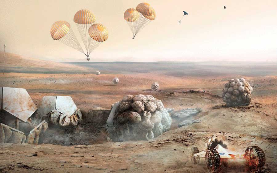foster and partners mars habitat competition NASA mihanpost  (1)