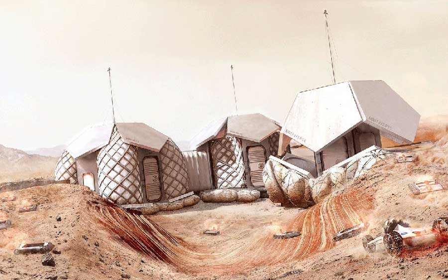 foster and partners mars habitat competition NASA mihanpost  (3)