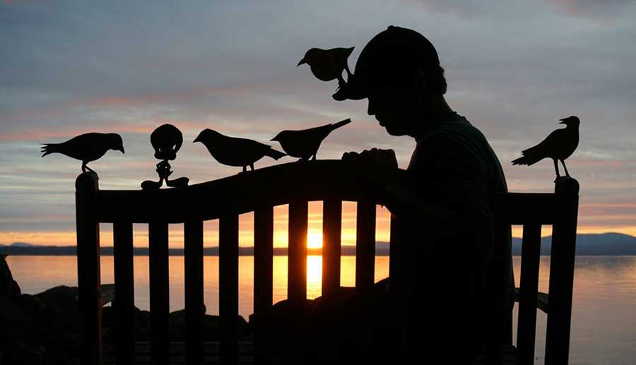 My Cardboard Cutouts Come To Life In Magical Sunset Silhouettes (2)