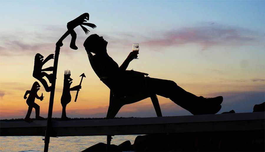 My Cardboard Cutouts Come To Life In Magical Sunset Silhouettes (4)