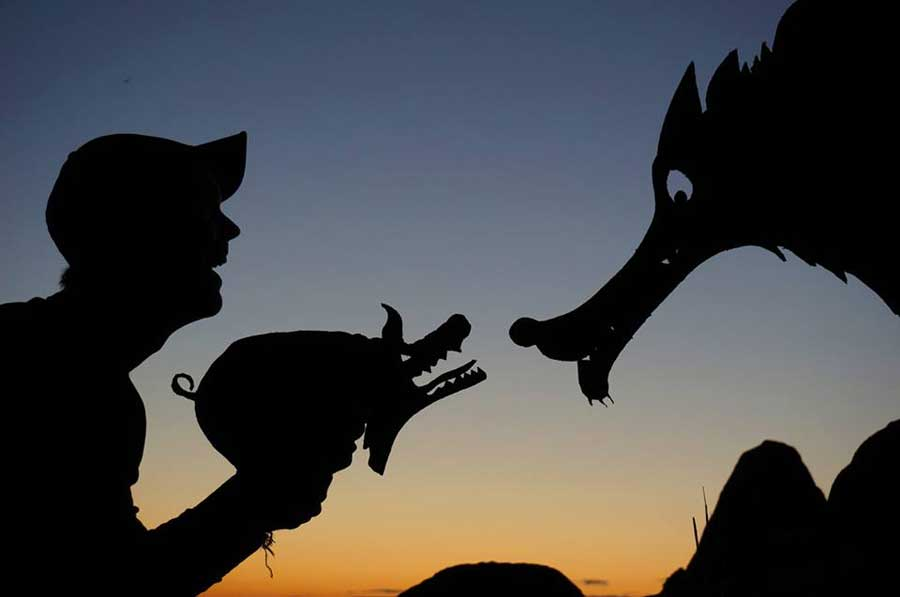 My Cardboard Cutouts Come To Life In Magical Sunset Silhouettes (9)
