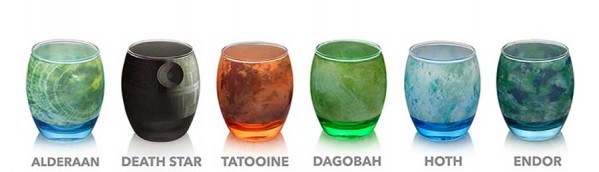 Elegant Glassware Modeled After Star Wars Planets (2)