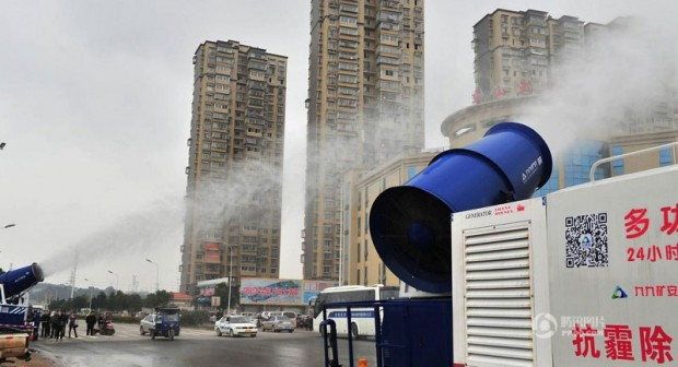 "Chinese cities are using this ""mist cannon"" to shoot (2)"