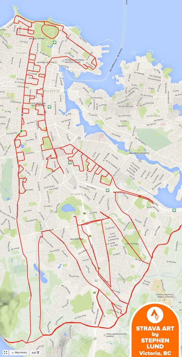 GPS Route Doodles by Riding Bike Around City mihanpost (1)