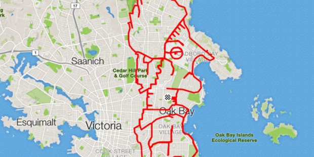 GPS Route Doodles by Riding Bike Around City mihanpost (12)