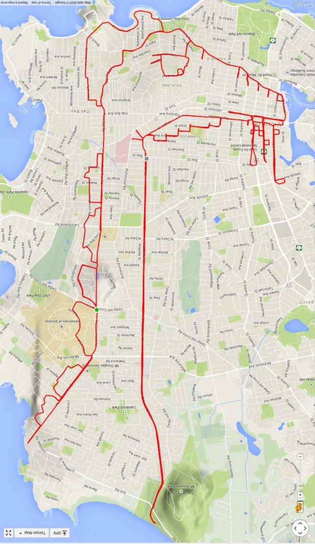GPS Route Doodles by Riding Bike Around City mihanpost (14)