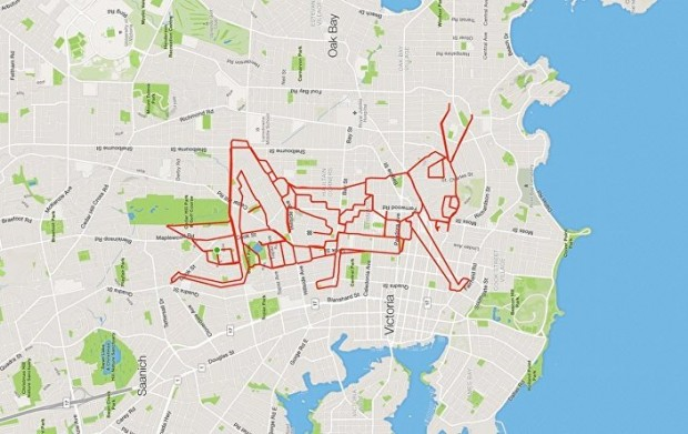 GPS Route Doodles by Riding Bike Around City mihanpost (15)