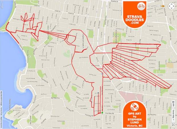 GPS Route Doodles by Riding Bike Around City mihanpost (16)