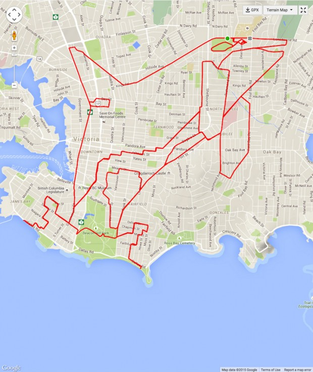 GPS Route Doodles by Riding Bike Around City mihanpost (17)