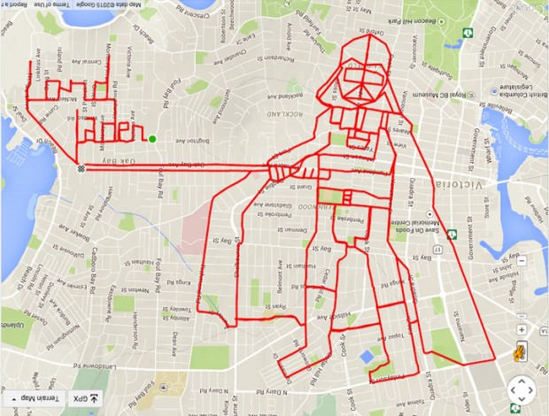 GPS Route Doodles by Riding Bike Around City mihanpost (7)